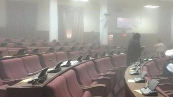 Aftermath of the attack on the Afghan Parliament