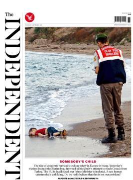 The body of Aylan Kurdi washed up on the Turkish shore.